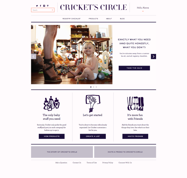 Cricket's Circle Homepage