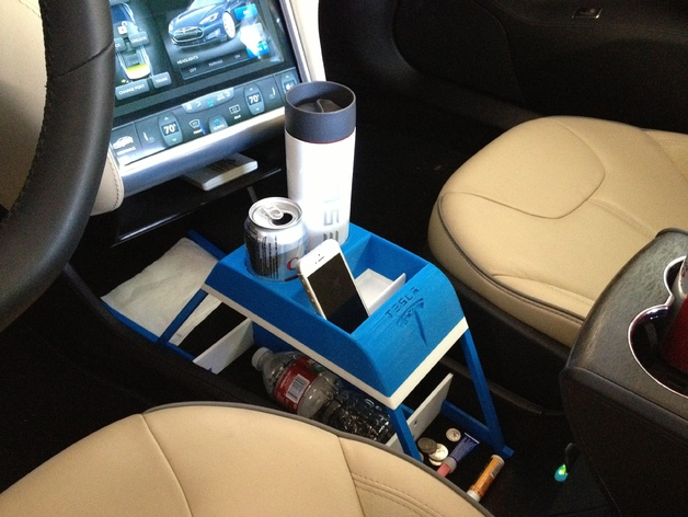 Now The Rich Can 3D Print Their Own Cup Holders For The Tesla Model