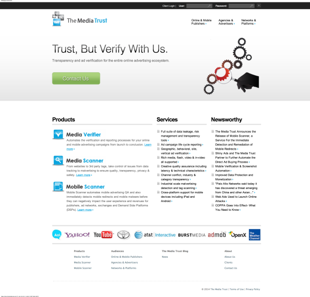 The Media Trust-website