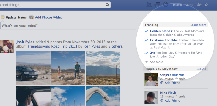 Facebook Launches Trending Topics On