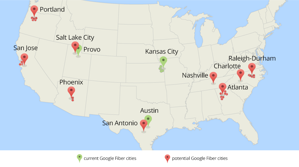 Google Announces Plans To Expand Fiber To 34 Additional US Cities