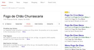 google adds full restaurant menus to its search results pages
