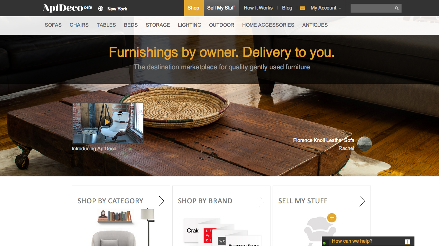 YCu0027s AptDeco Gives Apartment Hopping New Yorkers A Better Way To Buy U0026 Sell  Furniture