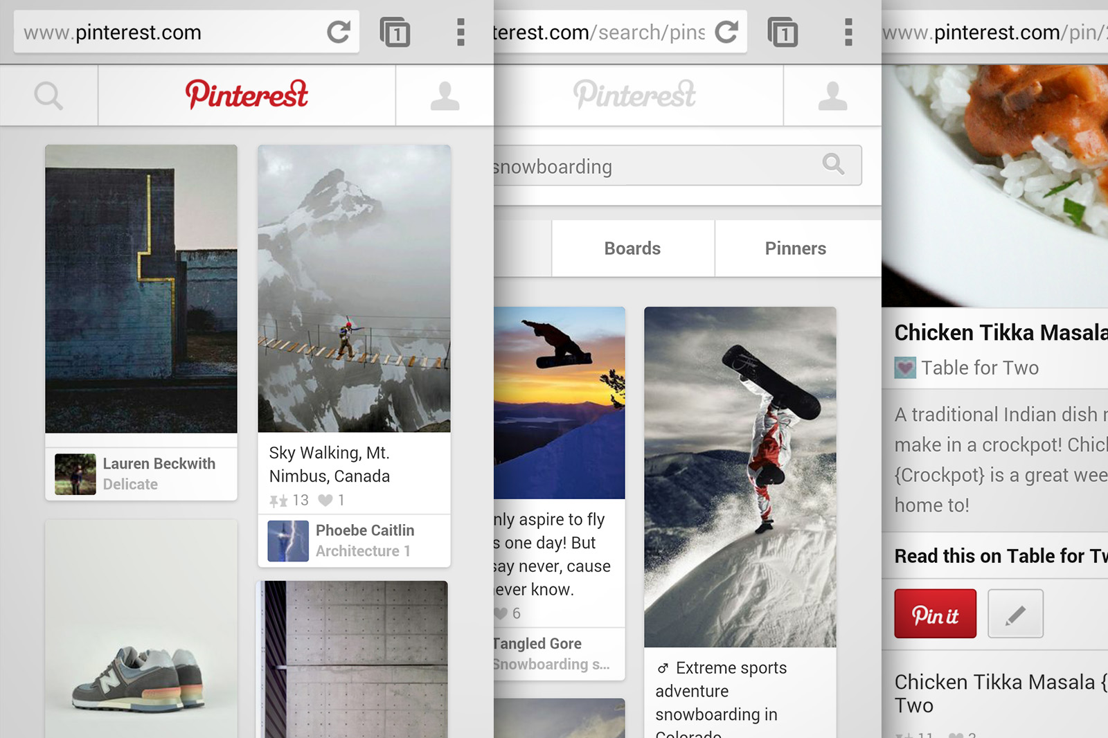 Now with 75 of all traffic coming from apps pinterest for Mobel website