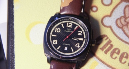 A Look At Marvin s Malton Military Cushion Watch e2ed756185