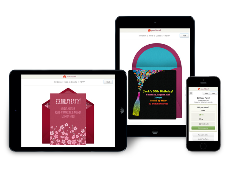 Punchbowl Rolls Out New Touch Friendly Digital Invitations Snags