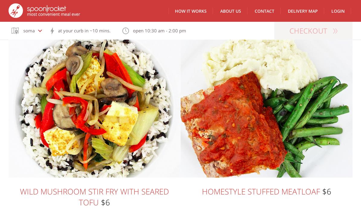 spoonrocket webpage