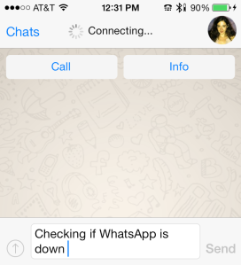 WhatsApp Connecting