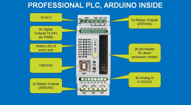 Power Big Electronics Projects With The Controllino Arduino