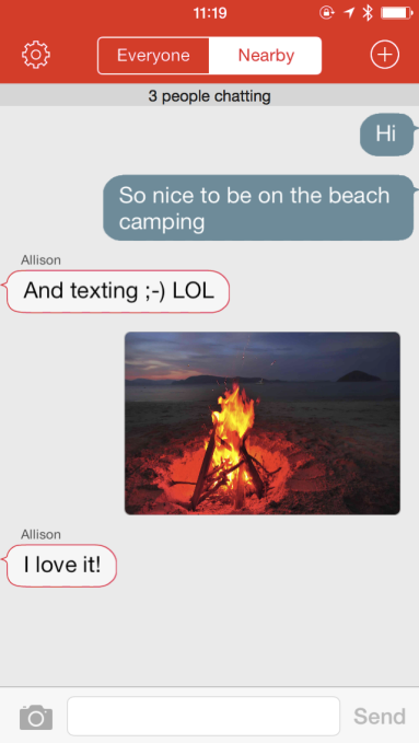 FireChat Screen Shot - Beach
