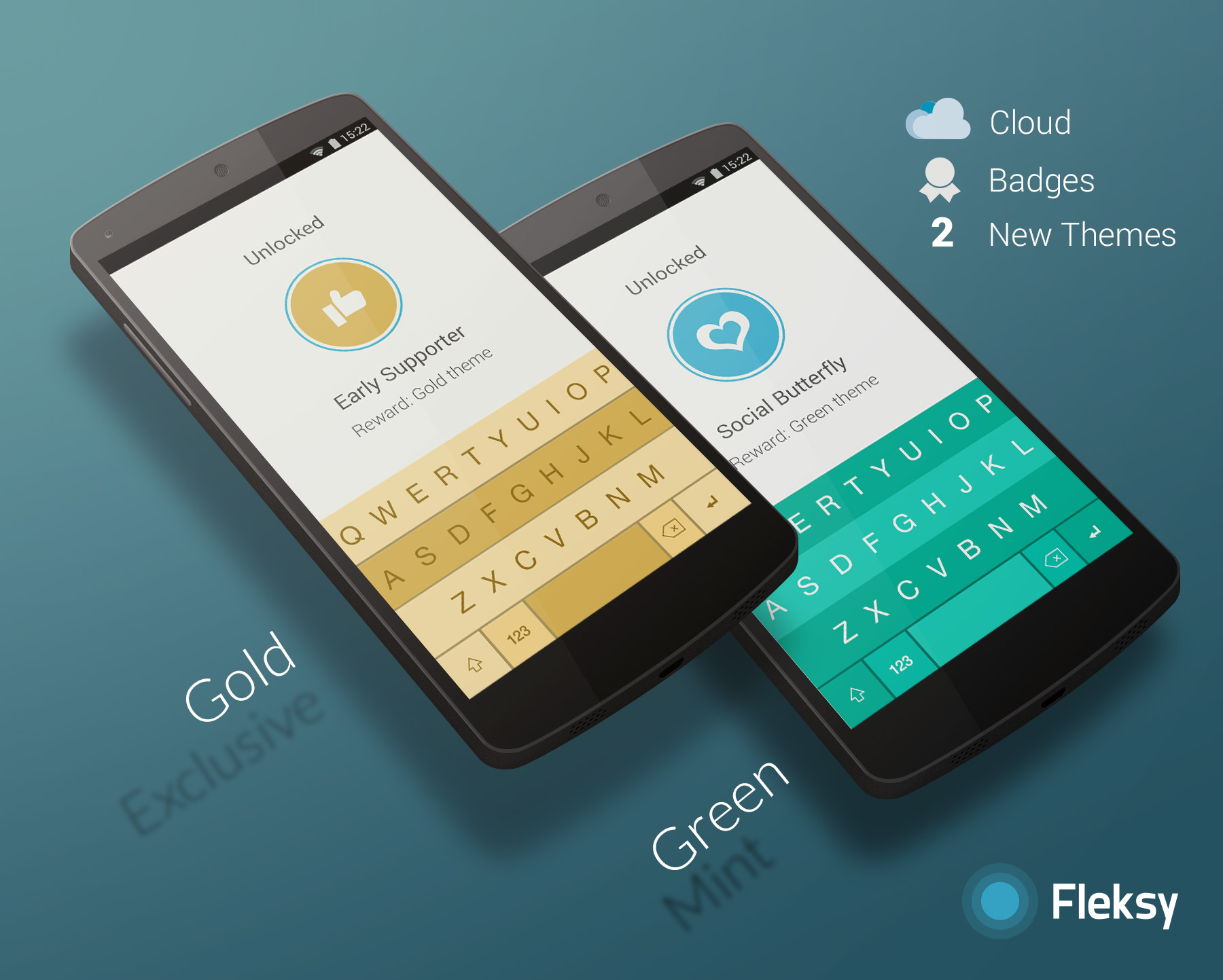Fleksy Keyboard Goes 2 0 On Android, Bringing Badges That Extend