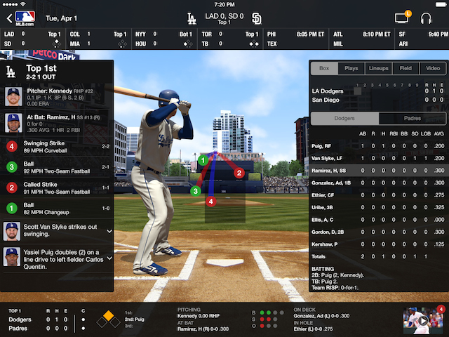 """Major League Baseball's """"At Bat"""" App Gets Updated To Support"""