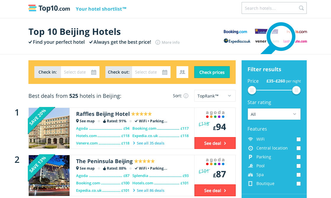 Hotel Metasearch Top10 com Closes $8M Series B, Led By Balderton, To