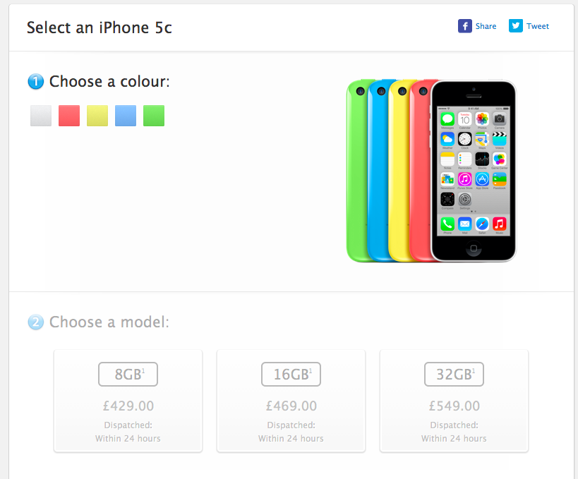 Update: 8GB iPhone 5c Goes Up For Sale In Europe & Asia ...