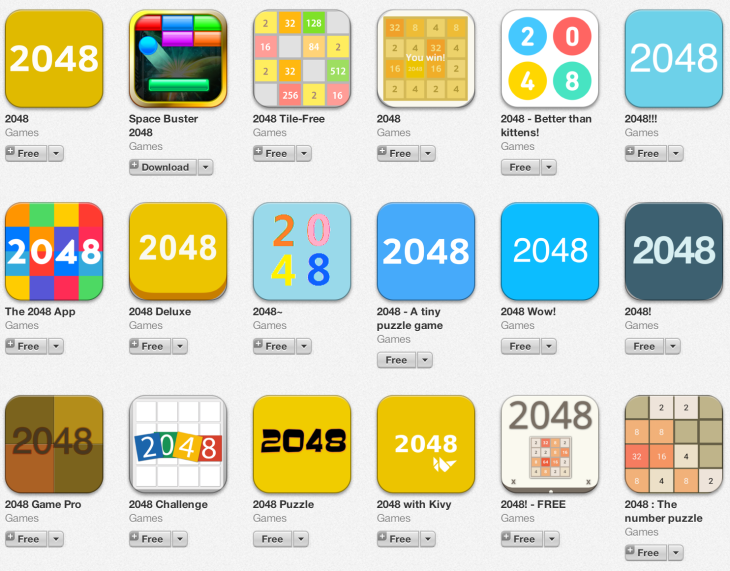 "Clones, Clones Everywhere – ""1024,"" ""2048"" And Other Copies Of"