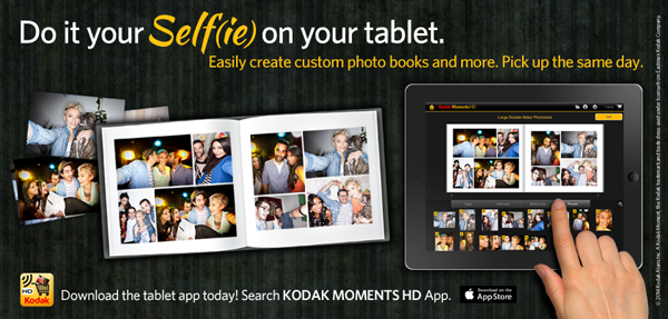 "Kodak Launches A Photo Book App For iPad, Makes Awful ""Selfie"" Joke"