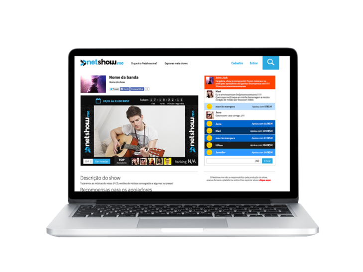 Netshow me, Brazil's Answer To StageIt, Raises Seed Round