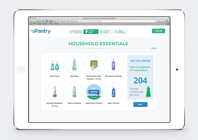 ePantry - Product Selection