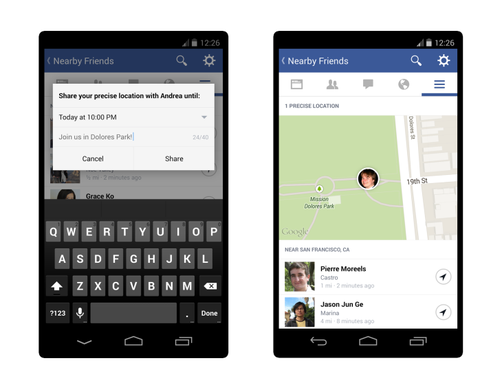 Facebook Launches Nearby Friends With Opt In Real Time