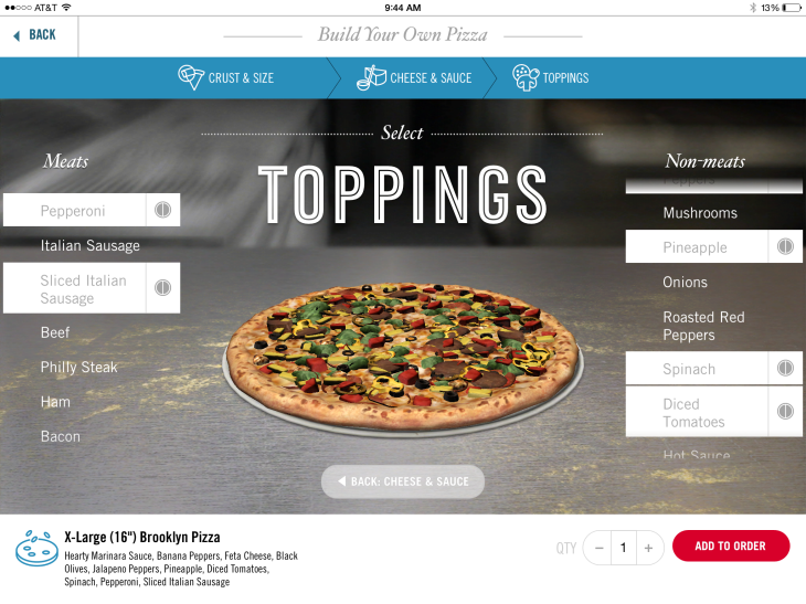 Dominos Launches Its Pizza Ordering App For Ipad With 3d