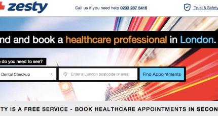 U K  Healthcare E-booking Platform, Zesty, Adds Another $2M+
