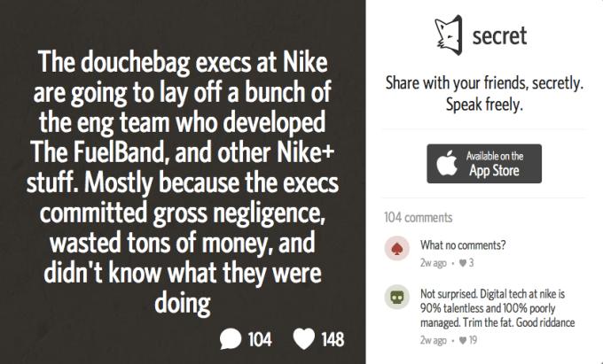 Secret Nike Fuelband