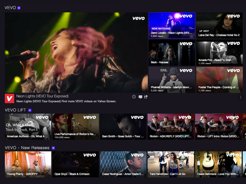 Yahoo Expands Partnership With Vevo, Bringing Music Videos