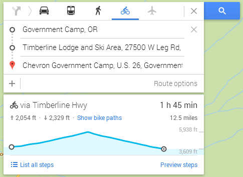 How to find elevation profile on google maps