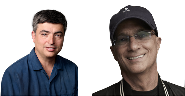 iTunes' Eddy Cue (left) and Beats' Jimmy Iovine (right)