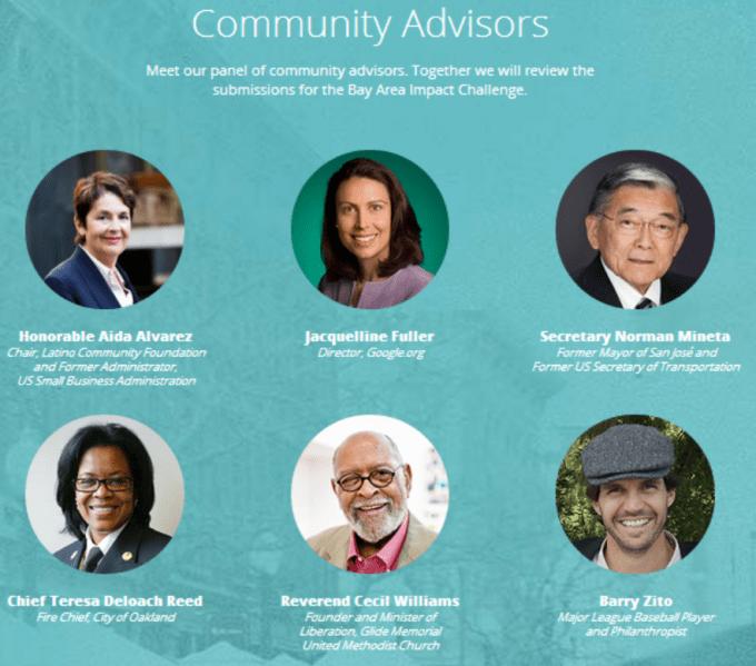 google bay area impact challenge advisors