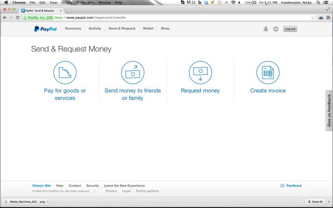 PayPal App Transfer