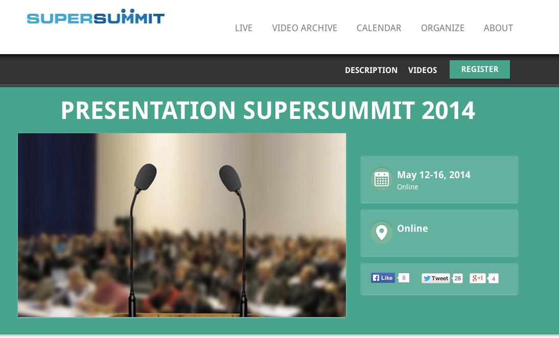 Presentation SuperSummit 2014