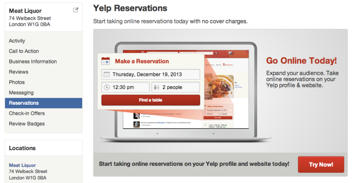 Yelp Bites Back At OpenTable TripAdvisor And Google With Free Yelp - Google open table