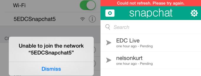 EDC Wifi Fail
