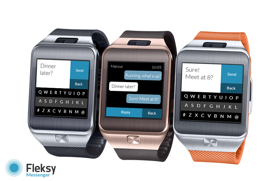 Fleksy Builds A Texting App For The Samsung Gear 2