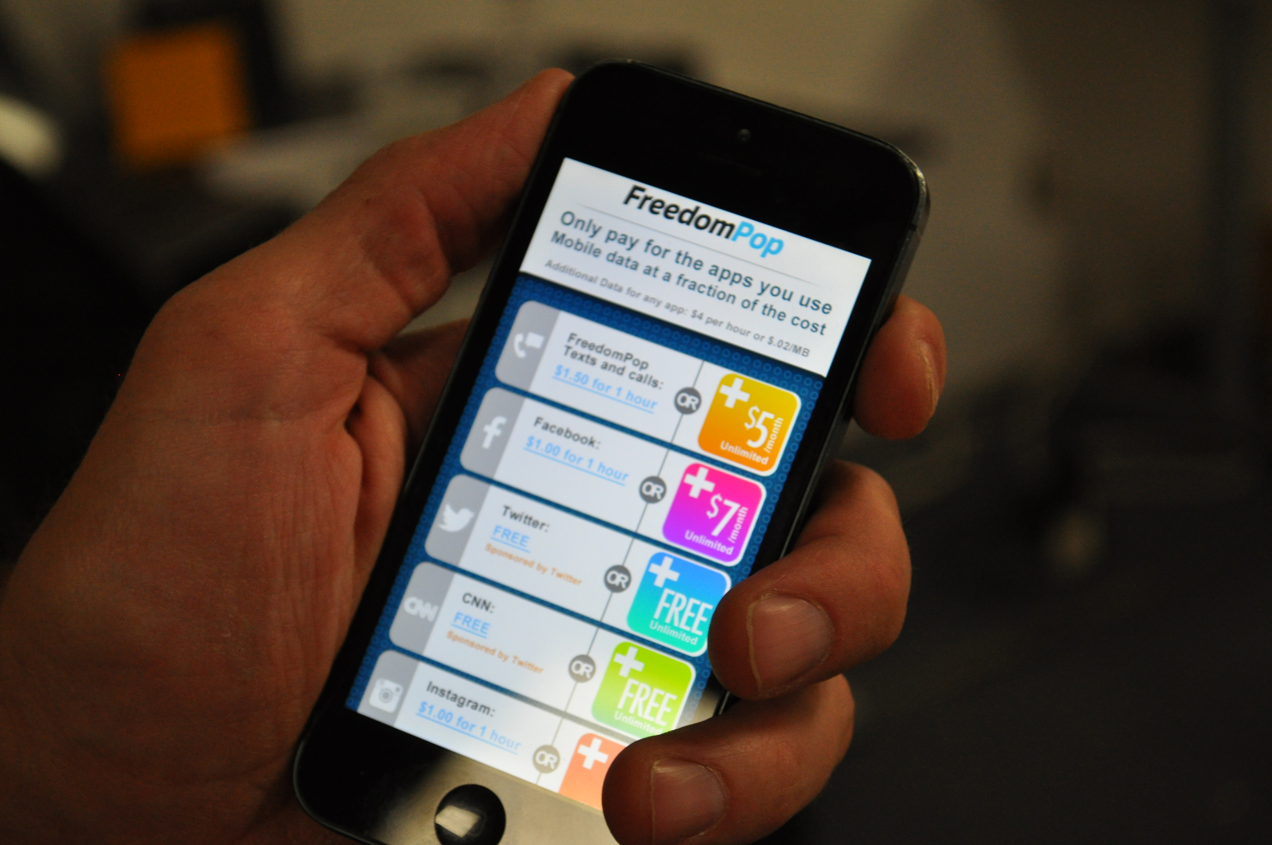 FreedomPop To Offer App-Sized Data Plans, Free Use Of Sponsored Apps