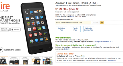 Amazon's Shopping Phone Comes With Free Prime Membership For