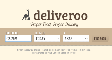 Premium Restaurant Take-Out Platform Deliveroo Raises £2 75M From