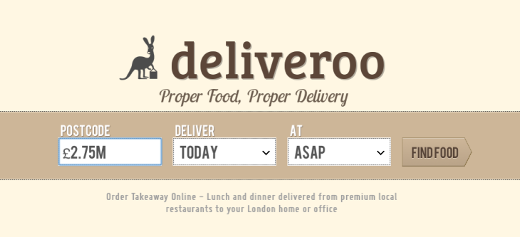 Premium Restaurant Take-Out Platform Deliveroo Raises £2 75M