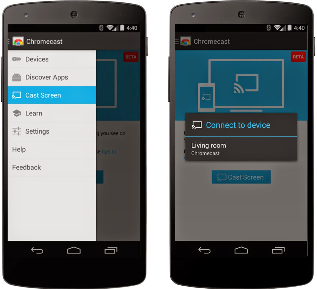Google Adds Android Smartphone And Tablet Screen Mirroring To