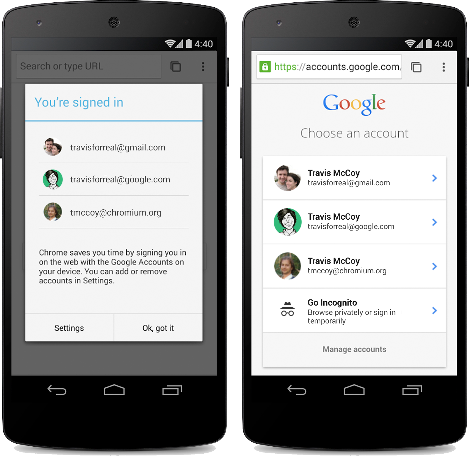 Chrome Android Beta Gets Single Sign-In For Google Sites And