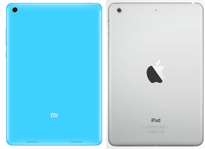 Xiaomi Mi Pad and an iPad Mini Retina