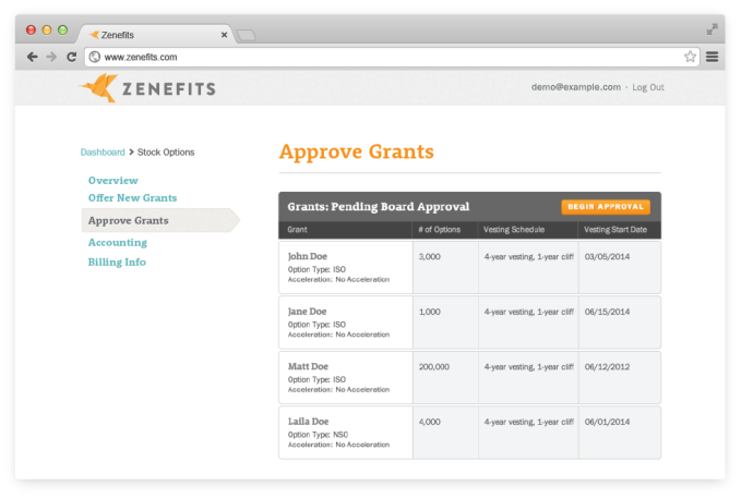 Zenefits Adds Stock Options To Its Cloud HR Platform | TechCrunch