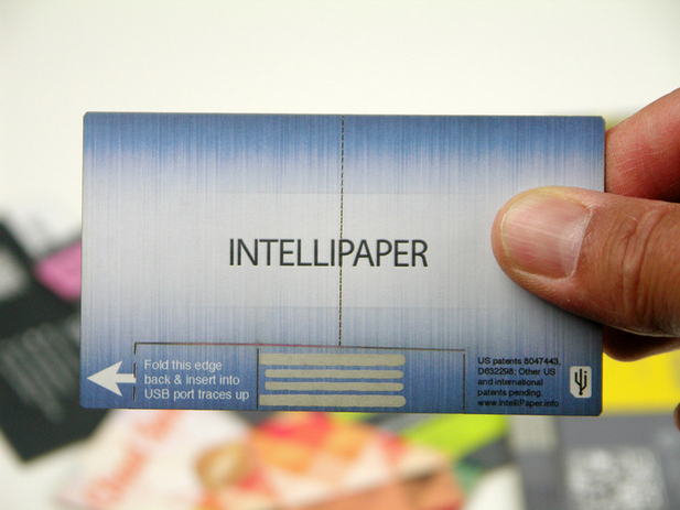 Paper usb business card lets you track usage techcrunch colourmoves