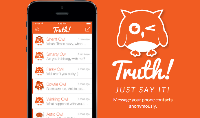 Truth Lets You Send Anonymous Texts | TechCrunch