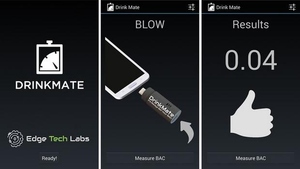 DrinkMate Is A Tiny, Plug-In Breathalyzer For Android Devices