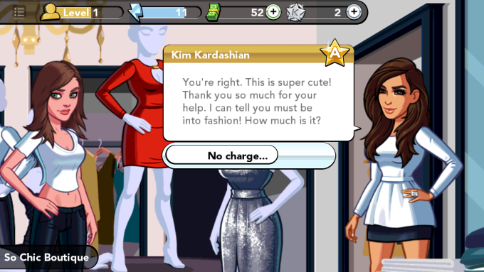 My avatar shoplifting for Kim Kardashian's avatar