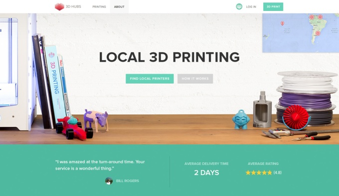 3dhubs raises $4.5 million to make local 3d printing global | techcrunch