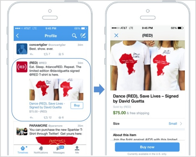 """8c3253cd29a4 Twitter Announces Its First Commerce Product — A """"Buy"""" Button On Mobile"""