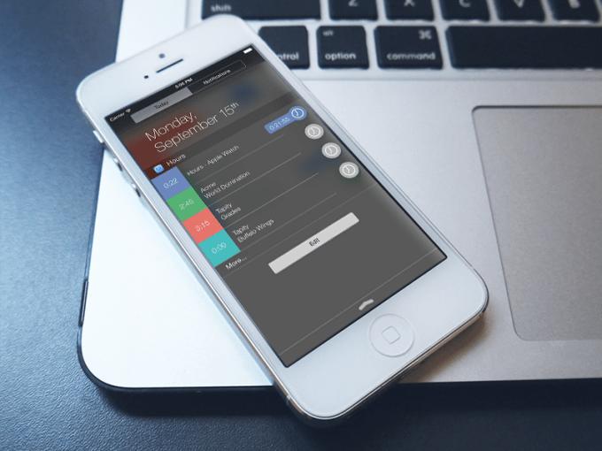 Hours iPhone widget
